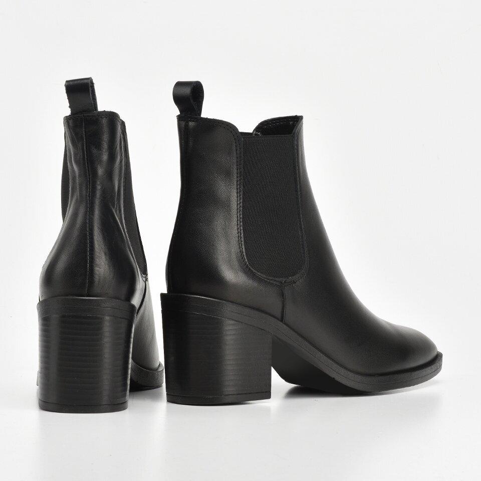 resm Hakiki Deri Siyah Kadın Topuklu Bot