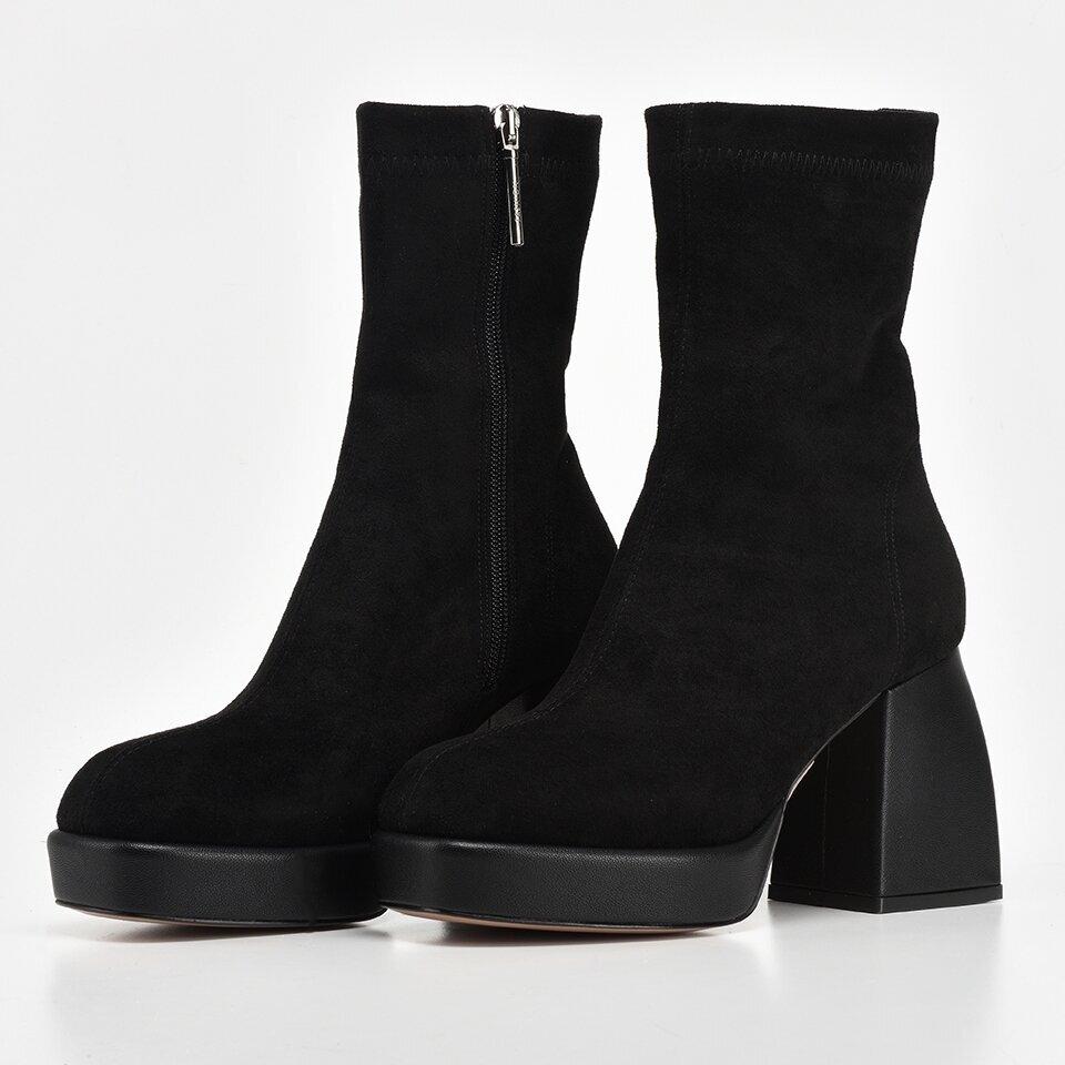 resm Siyah Kadın Topuklu Bot