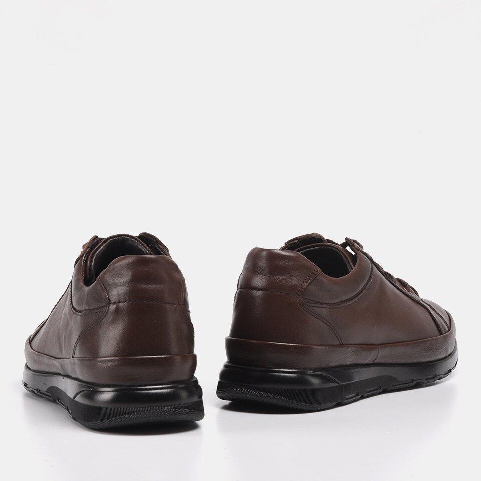 resm Hakiki Deri Kahve Yaya Erkek Spor Ayakkabı