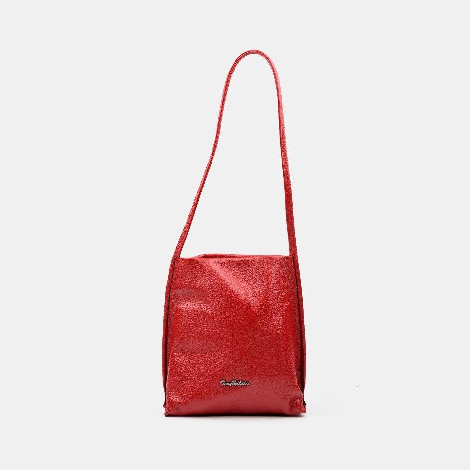 resm Hakiki Deri Kırmızı Kadın Çanta