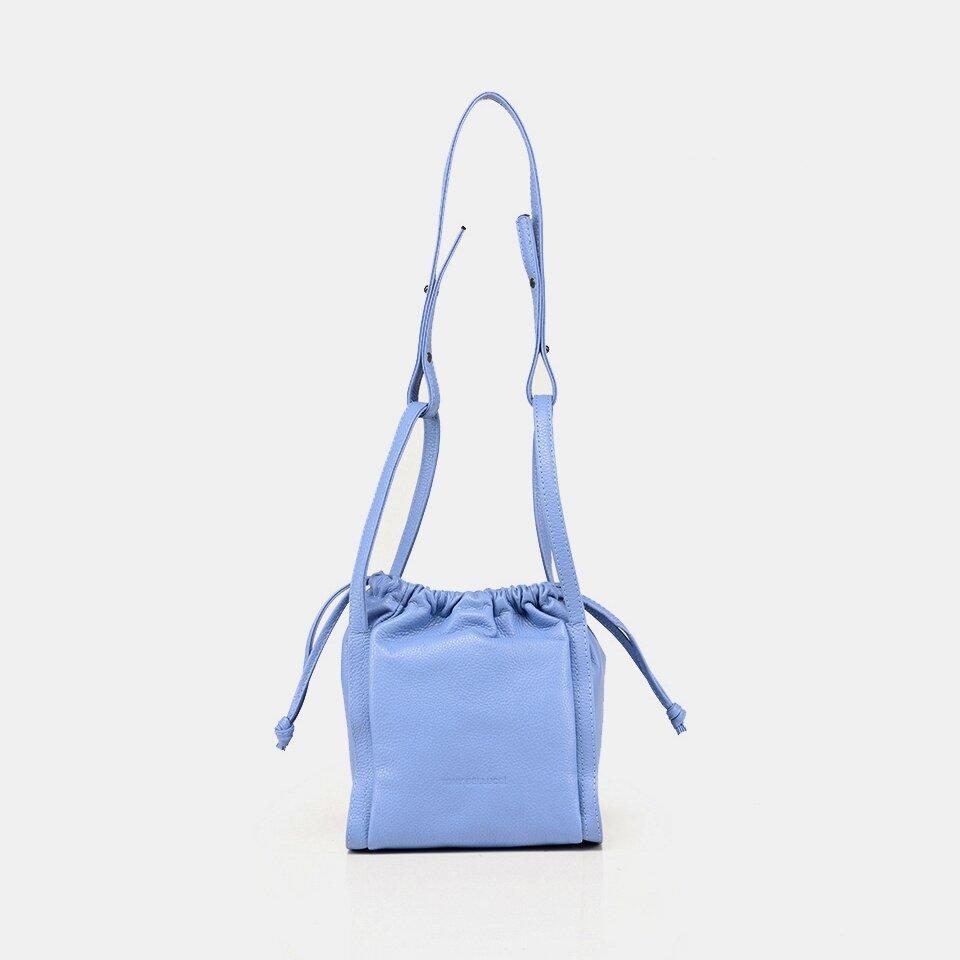 resm Hakiki Deri Mavi Kadın Mini (Çapraz) Çanta