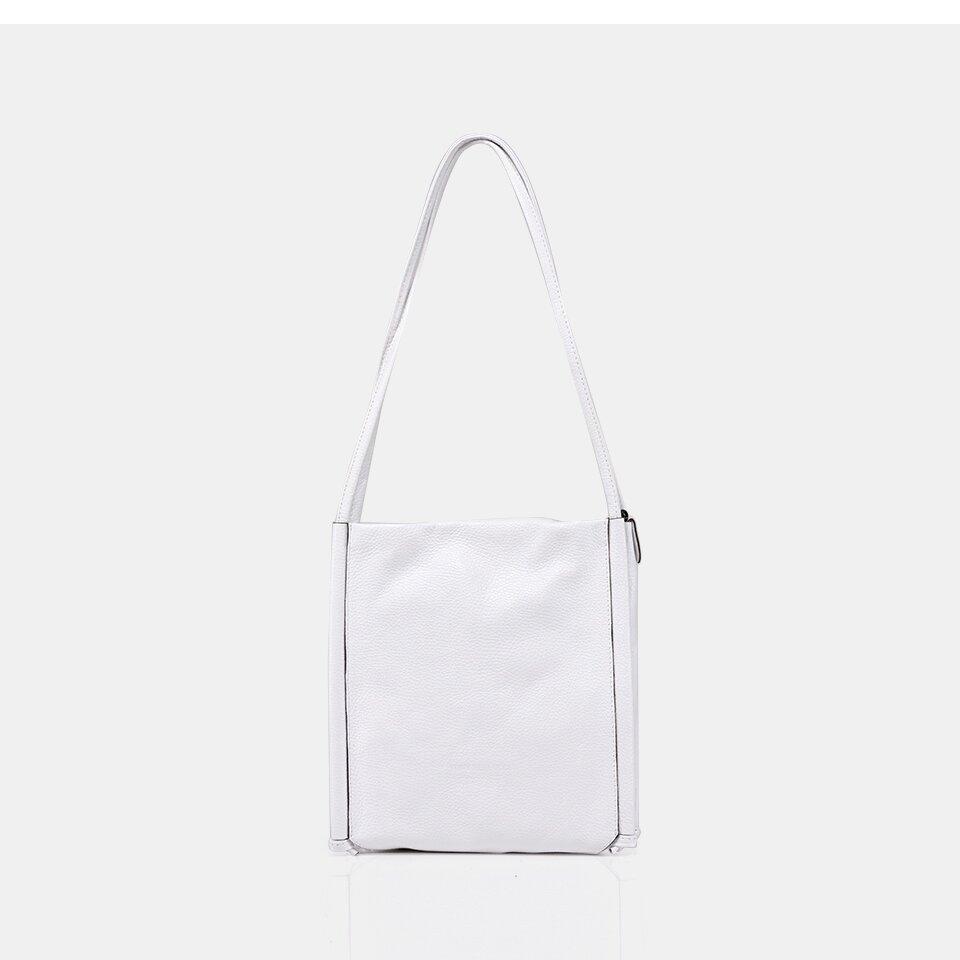 resm Hakiki Deri Beyaz Kadın Çanta