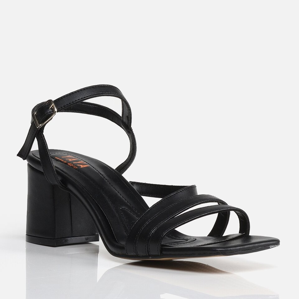 resm Siyah Yaya Kadın Sandalet & Terlik