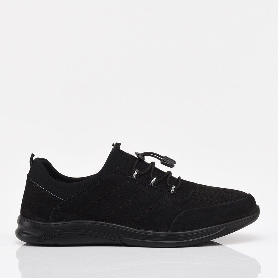 resm Hakiki Deri Siyah Yaya Erkek Spor Ayakkabı