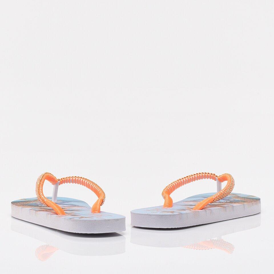 resm Turuncu Yaya Kadın Sandalet &Terlik