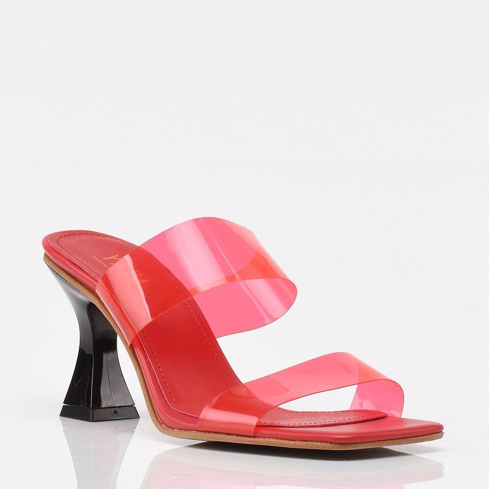 resm Kırmızı Yaya Kadın Sandalet &Terlik