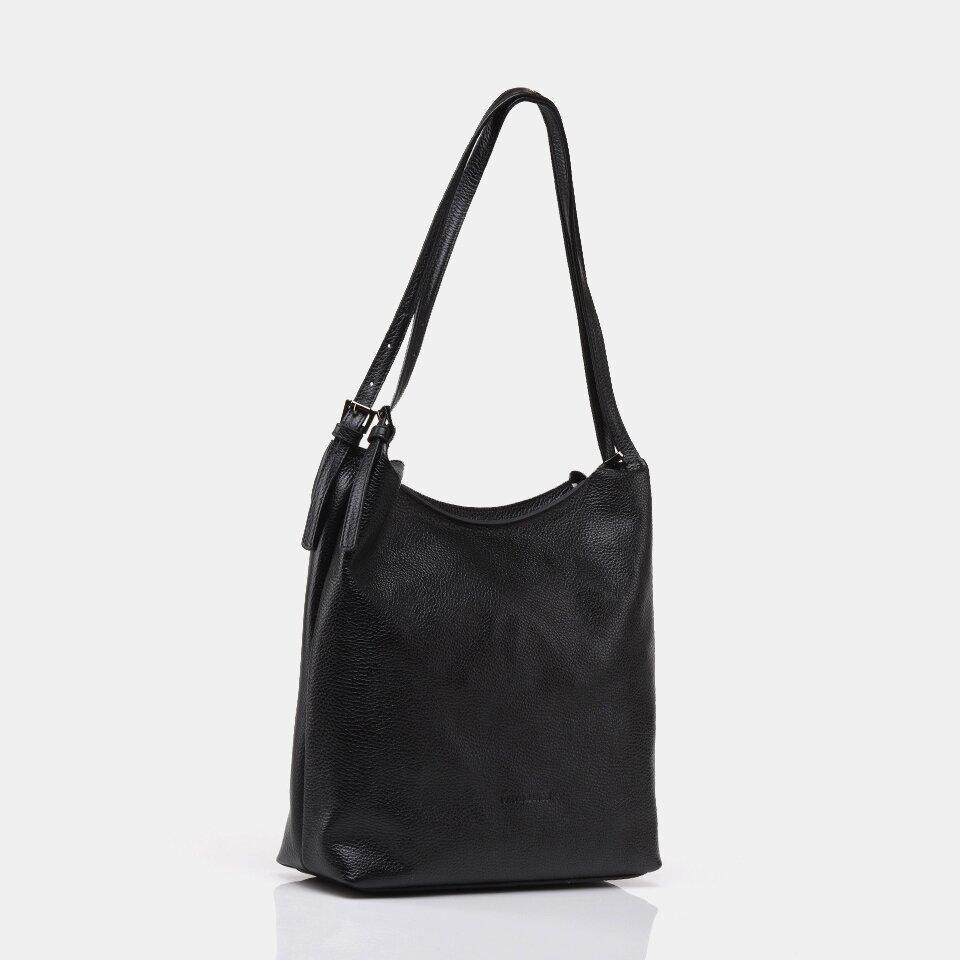 resm Tekstil ve Hakiki Deri Siyah Kadın Çanta