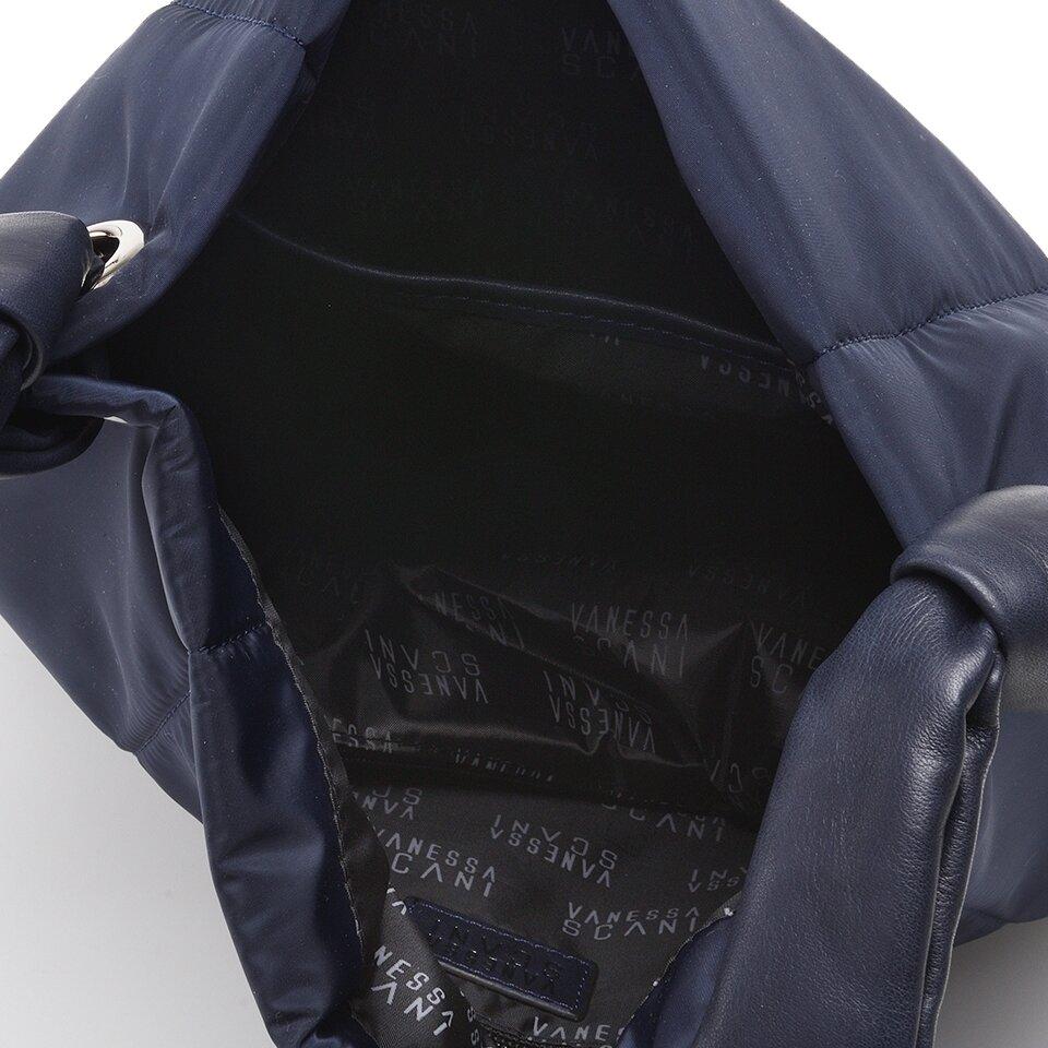 resm Tekstil ve Hakiki Deri Lacivert Kadın Çanta