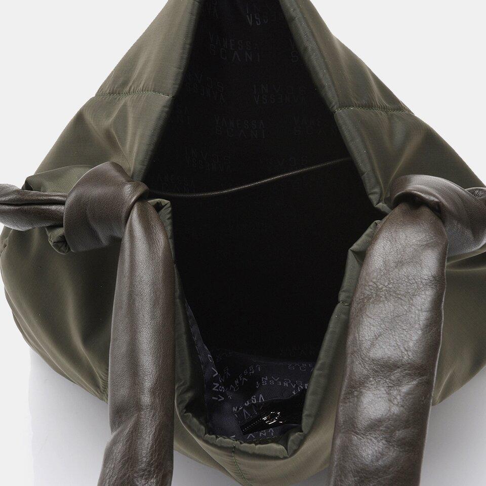 resm Tekstil ve Hakiki Deri Haki Kadın Çanta