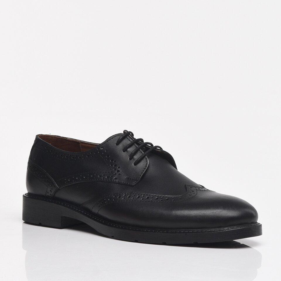 resm Hakiki Deri Siyah Yaya Erkek Günlük Ayakkabı