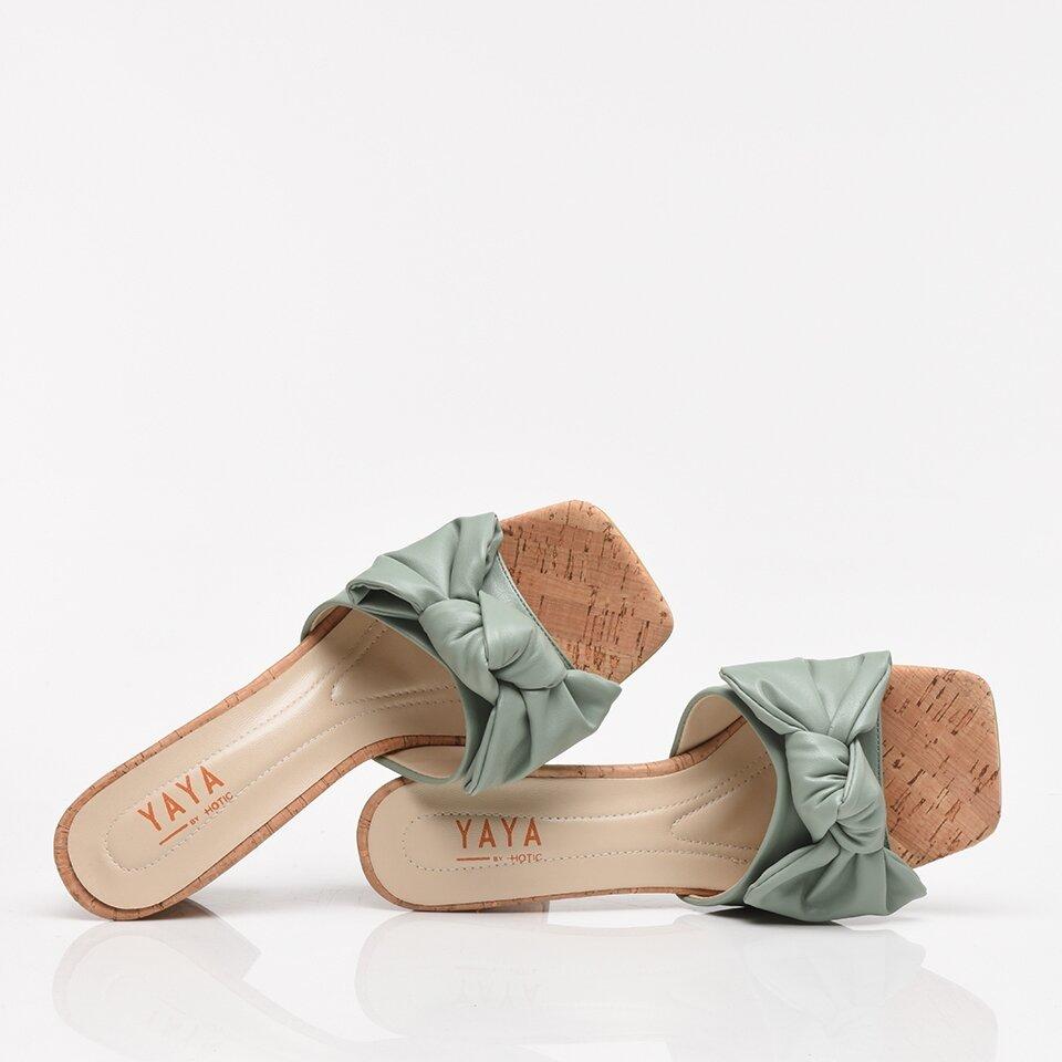 resm Yeşil Yaya Kadın Sandalet & Terlik