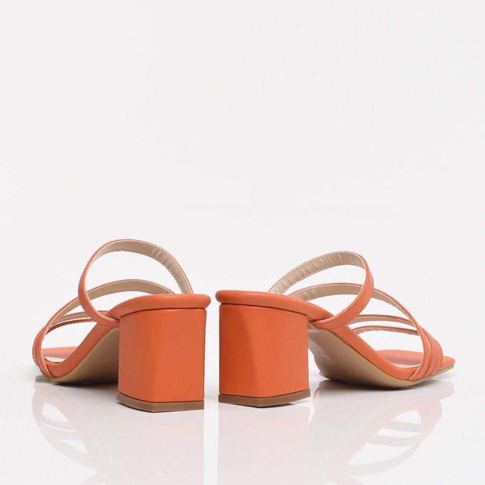 resm Turuncu Yaya Kadın Sandalet & Terlik