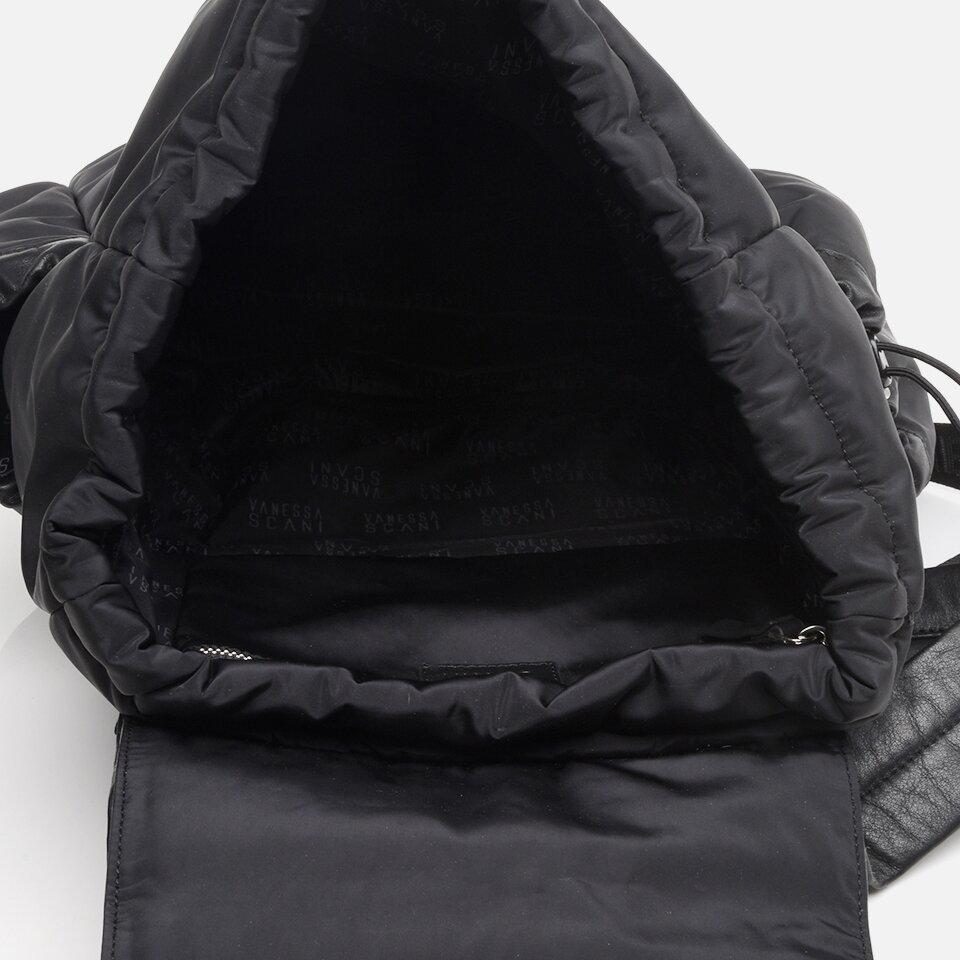 resm Tekstil ve Hakiki Deri Siyah Erkek Sırt Çantası
