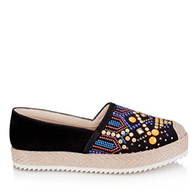 Resim  Siyah Kadın Düz Ayakkabı