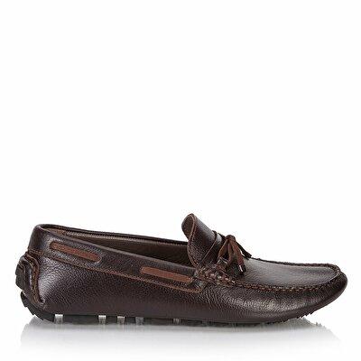 Resim Hakiki Deri  Erkek Loafer