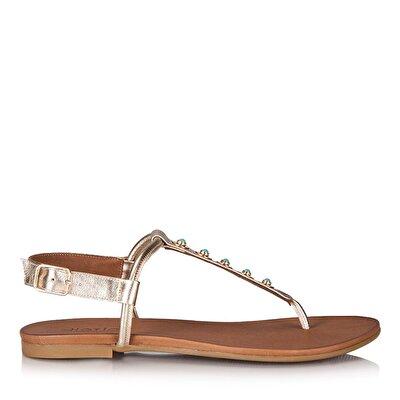 Resim SALVA GOLD Kadın Düz sandalet