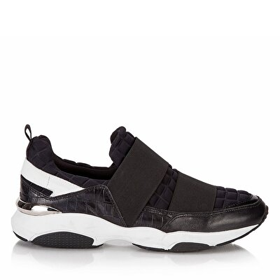 Resim Hakiki Deri Siyah Erkek Spor Ayakkabı