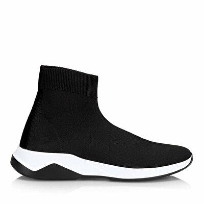 Resim Tekstil Siyah Erkek Spor Ayakkabı