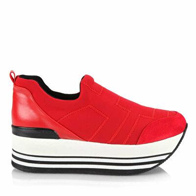Resim  Kırmızı Kadın Spor Ayakkabı