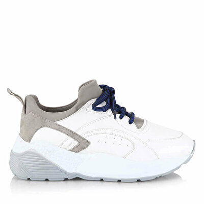 Resim Hakiki Deri Beyaz Kadın Spor Ayakkabı