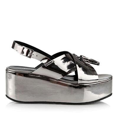 Resim  Antrasit Kadın Topuklu Sandalet