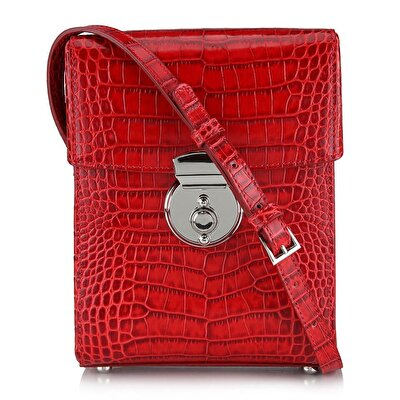Resim Hakiki Deri Kırmızı Çanta&Aksesuar Mini (Çapraz) Çanta