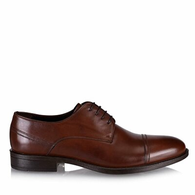 Resim Hakiki Deri Kahve Erkek Klasik Ayakkabı