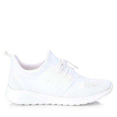 Resim Tekstil Beyaz Erkek Spor Ayakkabı