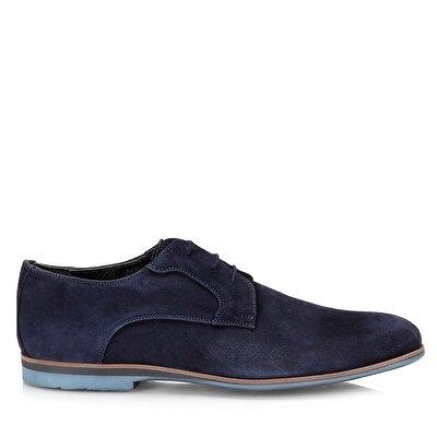 Resim Hakiki Deri Lacivert Erkek Günlük Ayakkabı
