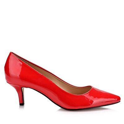 Resim  Kırmızı Kadın İnce Topuk