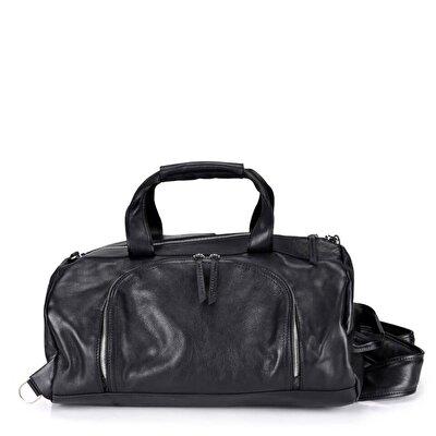 Resim Hakiki Deri Siyah Çanta&Aksesuar Çanta