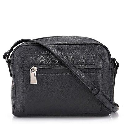 Resim Hakiki Deri Siyah Çanta&Aksesuar Mini (Çapraz) Çanta