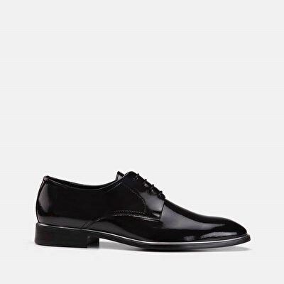 Resim Hakiki Deri Antrasit Erkek Klasik Ayakkabı