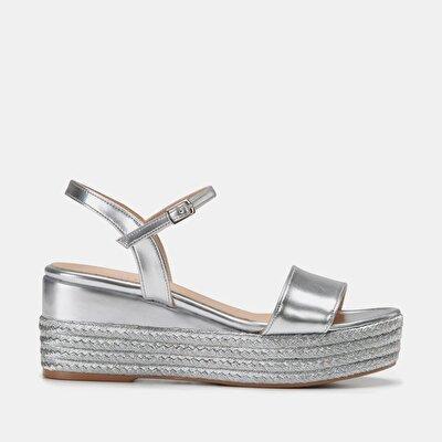 Resim  Lame Kadın Topuklu Sandalet