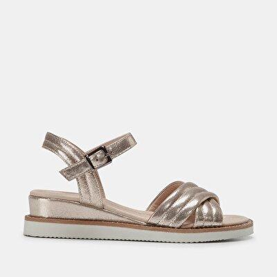 Resim  Gold Kadın Düz sandalet