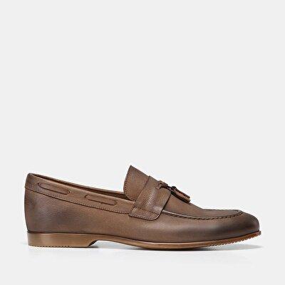 Resim Hakiki Deri Haki Erkek Loafer