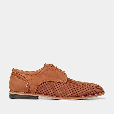 Resim Hakiki Deri Taba Erkek Günlük Ayakkabı