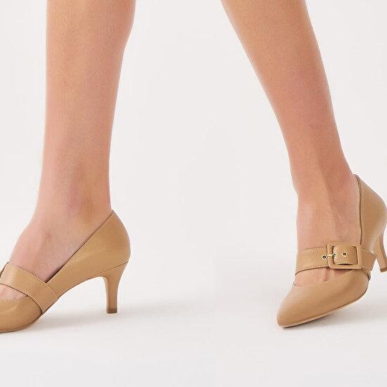 resm Hakiki Deri Gold Kadın Stiletto