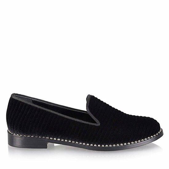 resm Tekstil Siyah Kadın Loafer