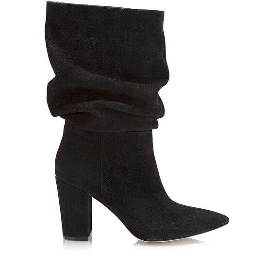 resm Hakiki Deri Siyah Kadın Çizme