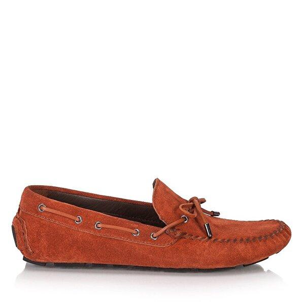 Resim Hakiki Deri Kırmızı Erkek Loafer