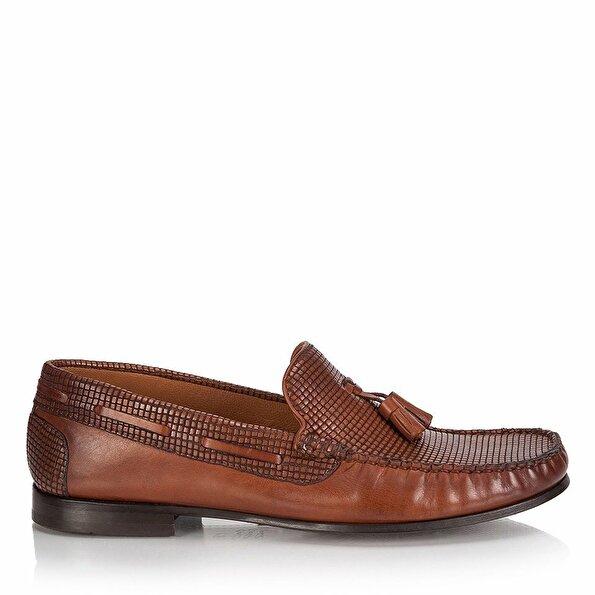 Resim Hakiki Deri Taba Erkek Loafer