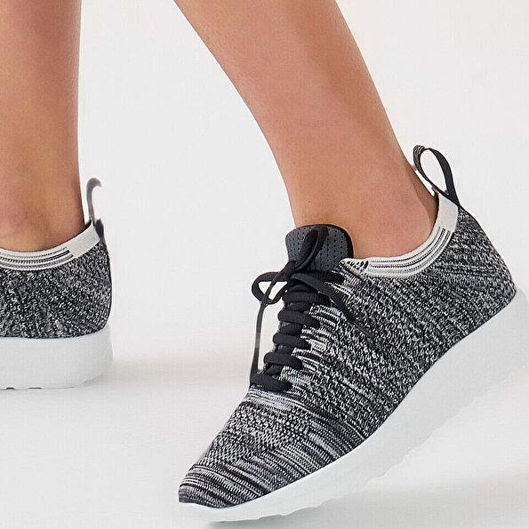 Resim Tekstil Antrasit Kadın Spor Ayakkabı