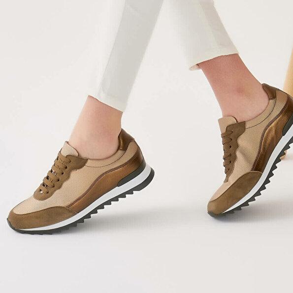 Resim Hakiki Deri Haki Kadın Spor Ayakkabı