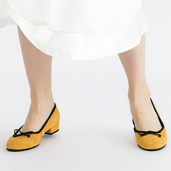 Resim Hakiki Deri Sarı Kadın