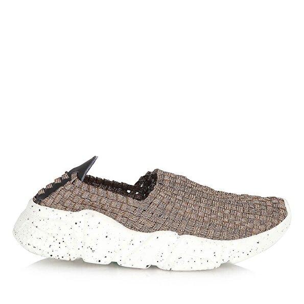 Resim Tekstil Bronz Kadın Spor Ayakkabı