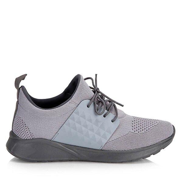 Resim Tekstil Gri Erkek Spor Ayakkabı
