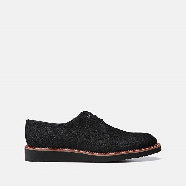 Resim Tekstil Siyah Erkek Günlük Ayakkabı