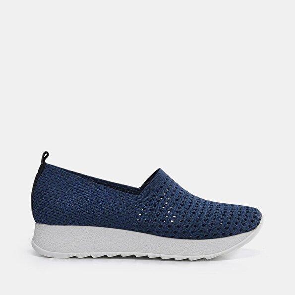 Resim Tekstil Lacivert Kadın Spor Ayakkabı