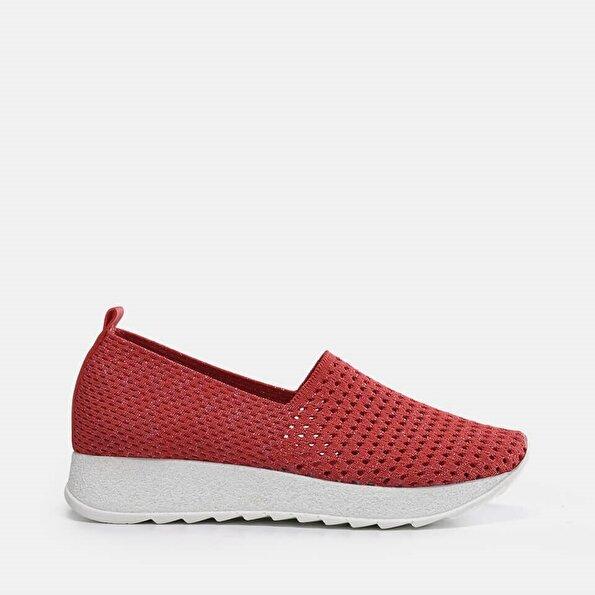 Resim Tekstil Nar Kadın Spor Ayakkabı